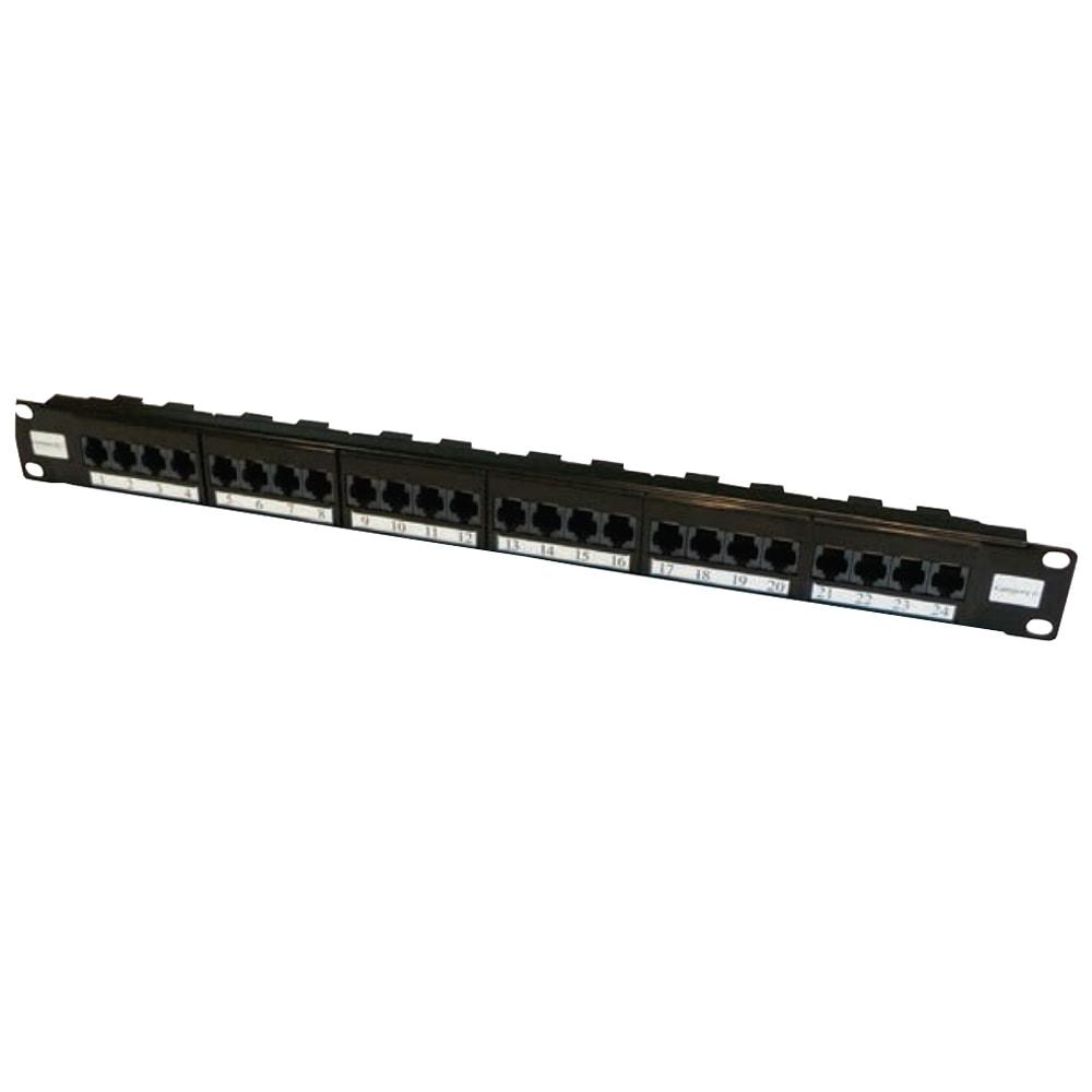 Elite Cat6 Utp Patch Panels Unshielded 24 Port Panel Cat 6 Cable Wiring 48 6231e Image Videk 2u Black