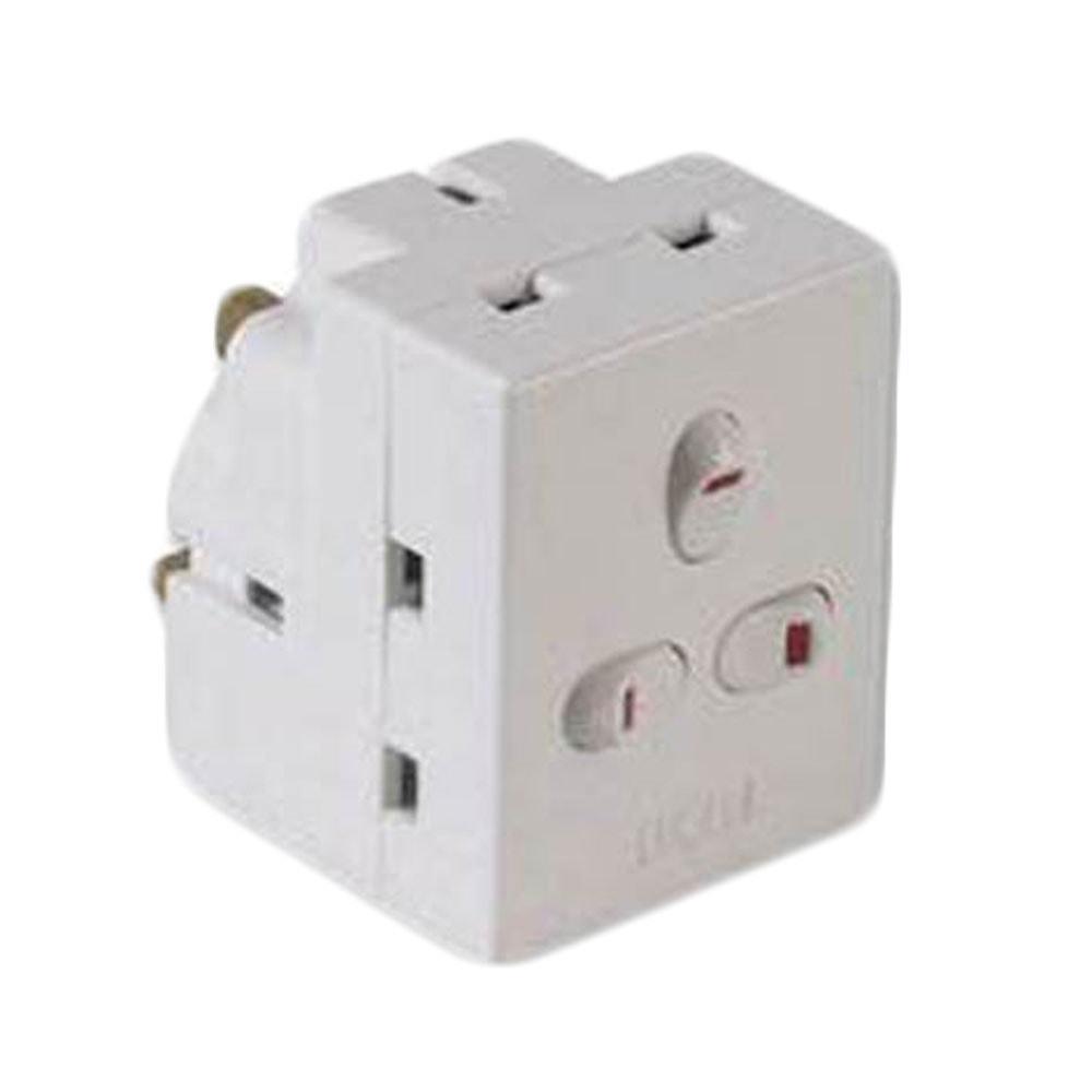3 Way UK Mains Power Block Adapters   UK Power Adapters   Mains ...